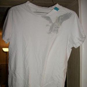 American Eagle Medium White Logo T-Shirt